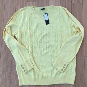 Talbots xl yellow sweater